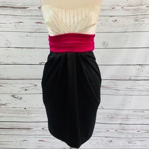 Gorgeous strapless dress with sequins EUC
